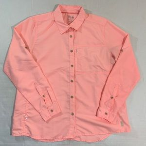 Mountain Hardwear Pink Vented Button Shirt L